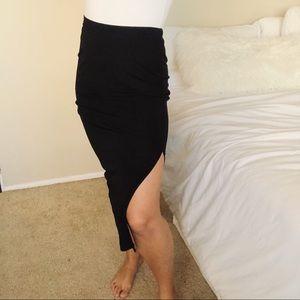 Ralph Lauren Black Slip Skirt